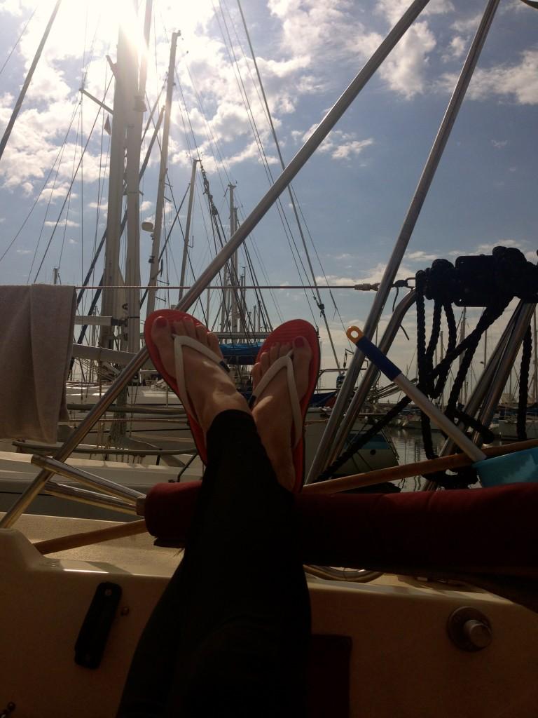 Leben auf einem Segelboot