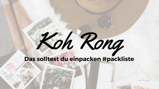 Packliste Koh Rong: Das musst du einpacken!